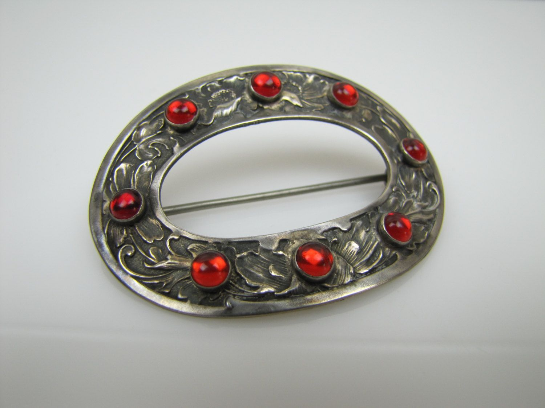 Antique Victorian Sash Brooch Sterling Silver