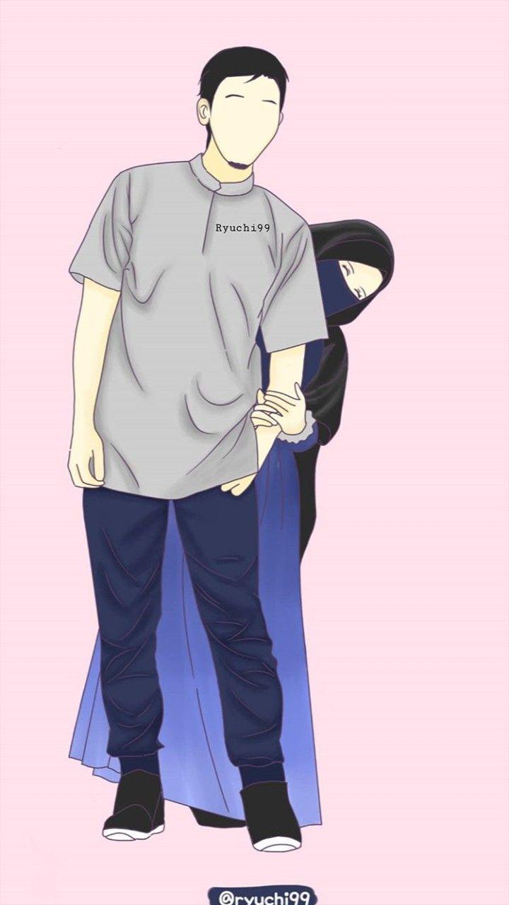 Pin oleh Nurlita di anime muslimah -Elit | Pasangan ...