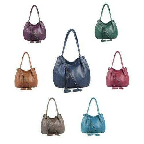 Ladies Handbag XXL Shopper Shoulder Bag Hobo Bag Shoulder Bag Leather Look