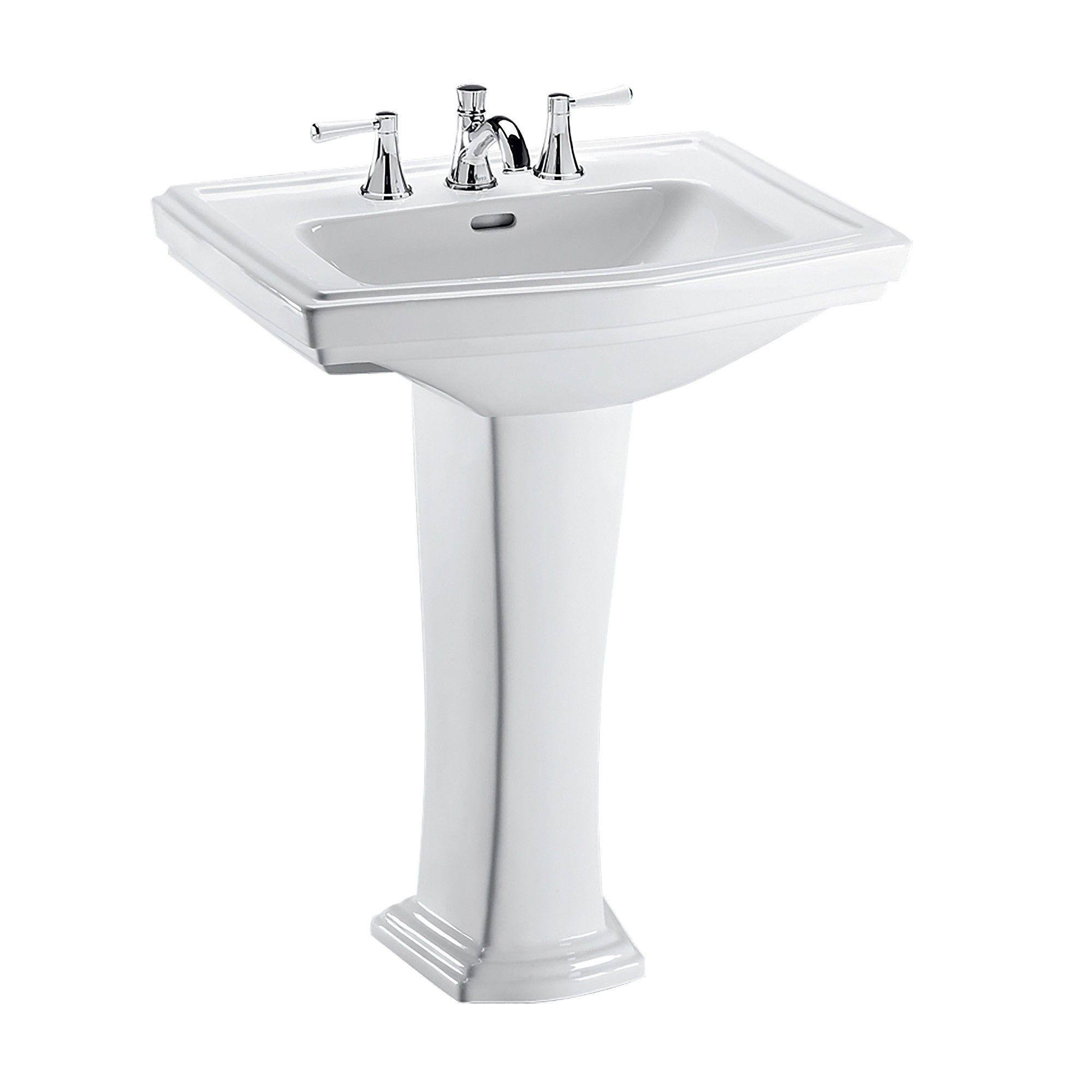 Toto Clayton Rectangular Pedestal Bathroom Sink For 8 Inch Center