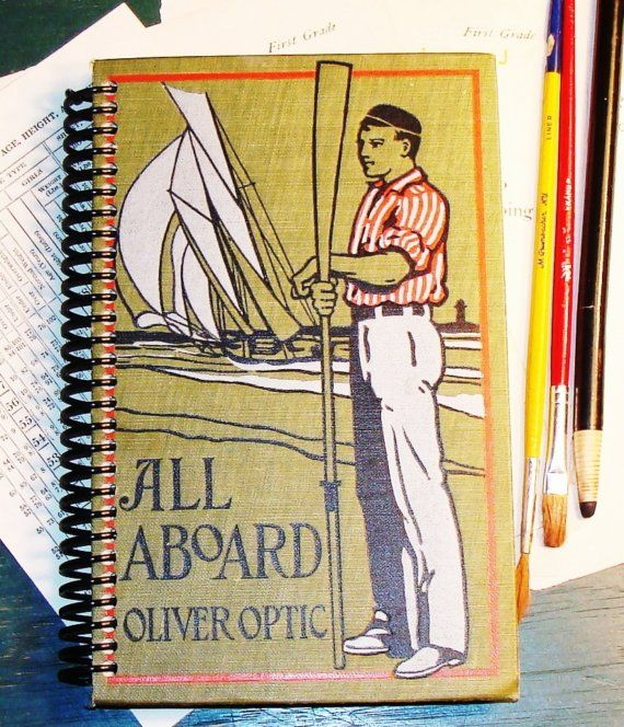 Journal  Notebook  Sailing  Handmade by StoriesDivinations on Etsy, $42.00