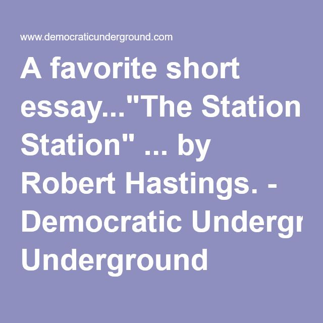 the station essay
