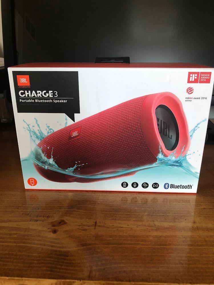 Brand New Jbl Charge 3 Red Ebay Jbl Charge Waterproof Speaker Ebay