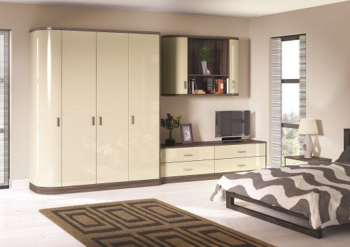 Ultragloss Cream Bedroom Doors - By BA Components. Stylish cream gloss wardrobe doors made in the UK. & Zurfiz UG Light Grey #Bella #Bedroom #Wardrobe | Bella Bedroom sets ...