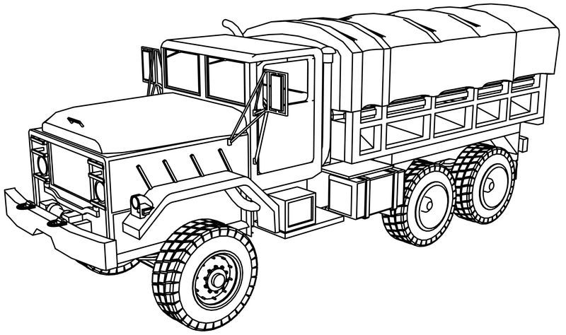 Free Printable Army Coloring Pages For Kids With Images Truck