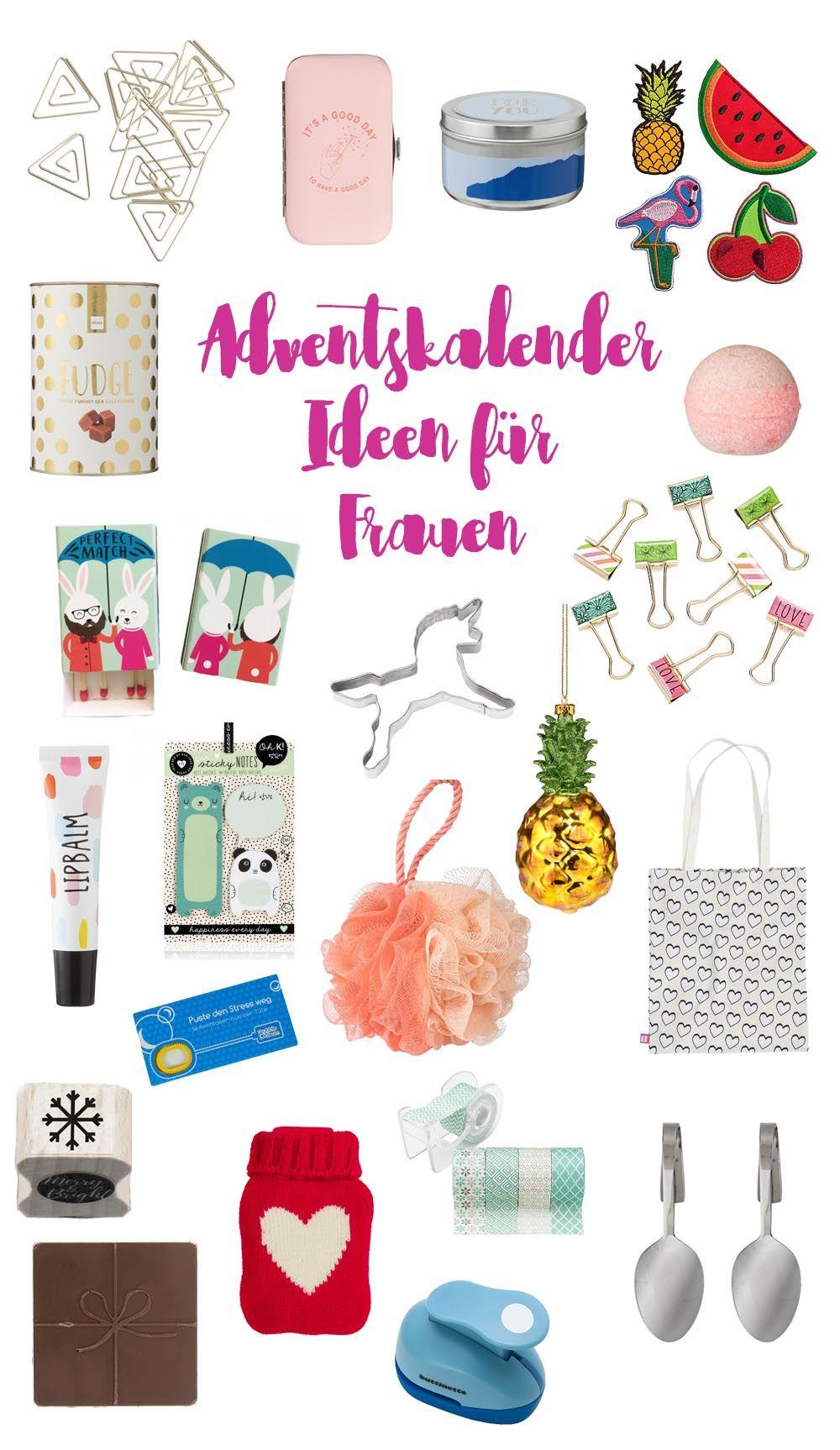 Adventskalender Geschenkideen für Frauen Adventskalender