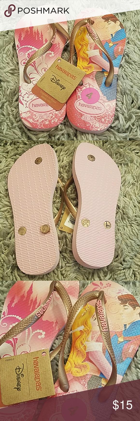bf372d715d0bae Havaianas Disney Sleeping Beauty Aurora NWT Size 4 Havaianas Shoes Sandals    Flip Flops