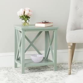 Safavieh Christa Dusty Green Wood Casual End Table Amh6523e Diy