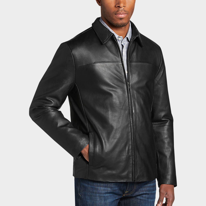 Pronto Uomo Black Modern Fit Moto Jacket Men S Big Tall Men S Wearhouse Mens Wearhouse Leather Jacket Men Mens Big And Tall [ 1500 x 1500 Pixel ]