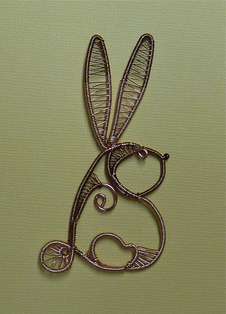 Wire Doodle Rabbit before Polymer Clay | Schmuck selbst gestalten ...