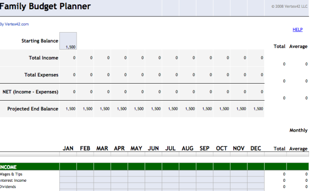 Family Budget Planner Template From Google Drive