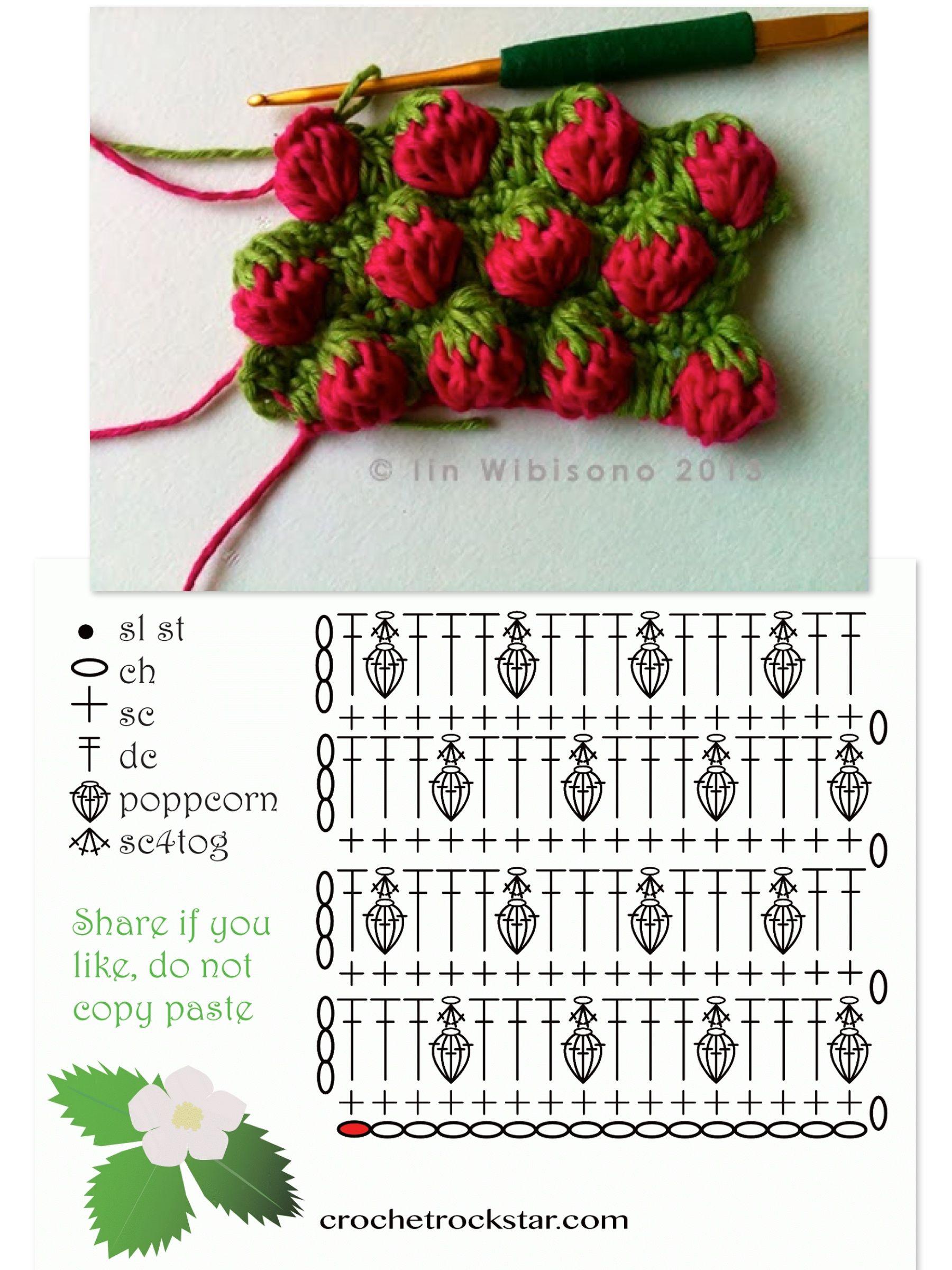 Pin de Victoria Gilchrist en Vic\'s Crochet Stitches (Puntos ...