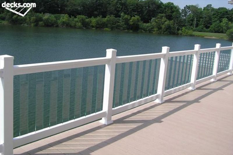 Images of glass rail decks deck railing designs decks for Balcony glass railing designs pictures