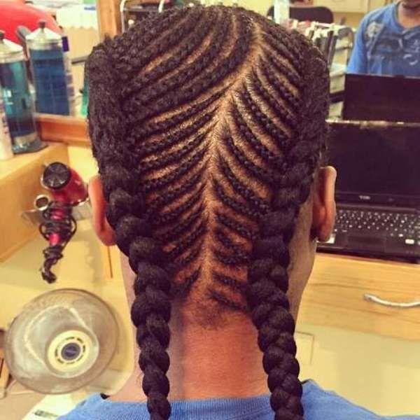 African American Fishtail Braids Hairstyles Black Men Haircuts
