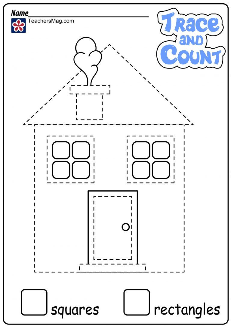 Shape Tracing And Counting Worksheets Teachersmag Com Tracing Shapes Homeschooling First Grade Counting Worksheets [ 1086 x 768 Pixel ]