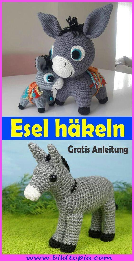 Photo of In dieser gratis Anleitung zeige ich Ihnen, wie Sie einen süßen Amigurumi Esel…