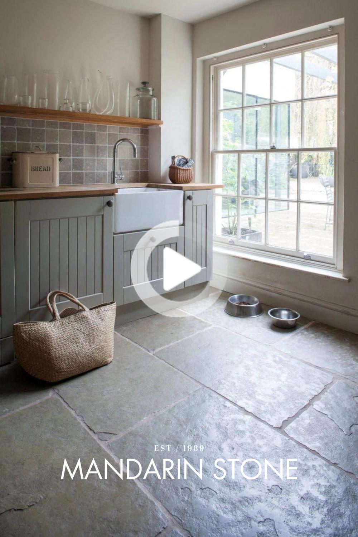 Jaipur Brushed Limestone Tile Slate Kitchen Kitchen Flooring Home Kitchens