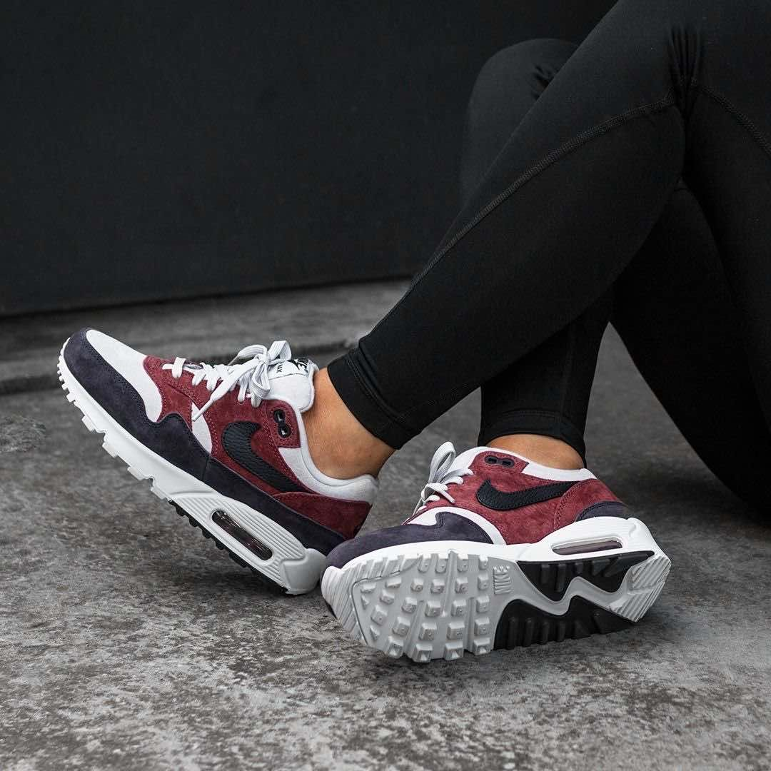 wholesale dealer aac3c ab970 Nike Shoes · Women s Air Max 90   1 Red Sepia   Oil Grey  https   insidesneakers