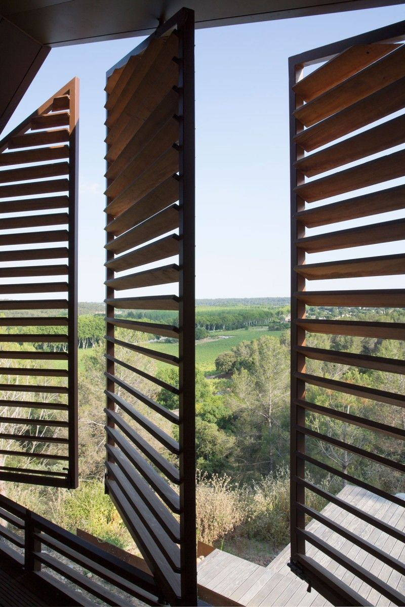 House window sunshade design  home in montpellier by nb architectes in   secure  pinterest