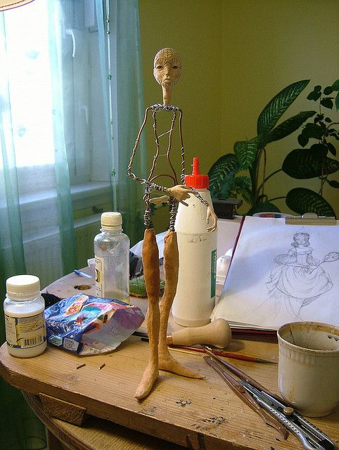 dscf5813 art dolls pinterest pappmach pappmache und gartendeko. Black Bedroom Furniture Sets. Home Design Ideas