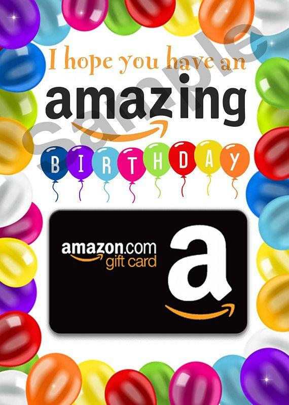 Birthday Gift Card Holder PRINTABLE Amazon Last Minute Amazo