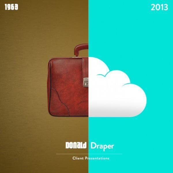Come cambierebbe la vita dei protagonisti del serial «Mad Men» con un salto temporale di 50 anni: le immagini simboliche create dal sito Shutterstock.com