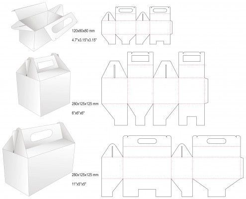 tall gable box template - Google Search | Kraft Krazy | Pinterest ...