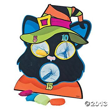 Black Cat Bean Bag Toss $14 Cat\u0027s Pajamas Halloween Slumber Party