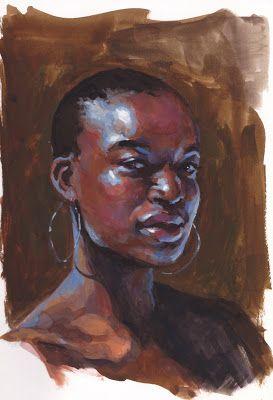 Art In A Busy World: Gouache Portrait Sketch