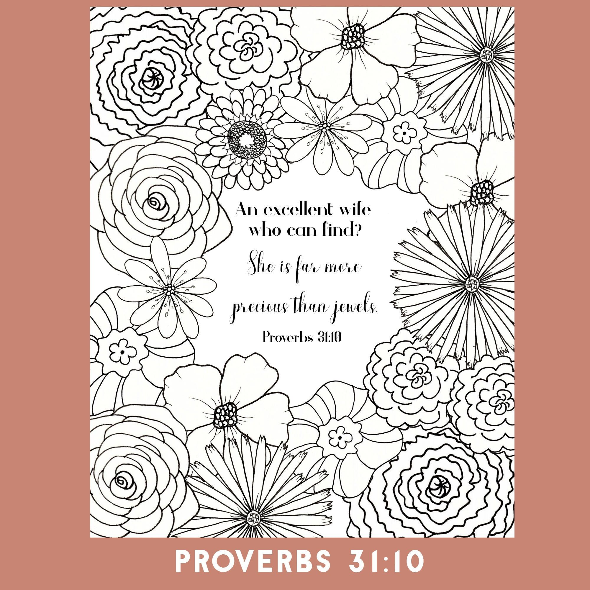 Bible Verse Coloring Page Proverbs 31 Coloring Page Christian