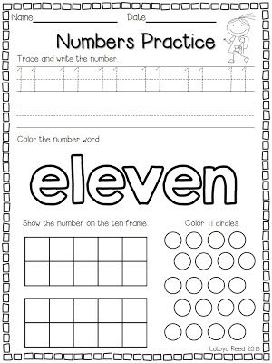 Flying into First Grade FREEBIE for Numbers 11-20 Top Teachers