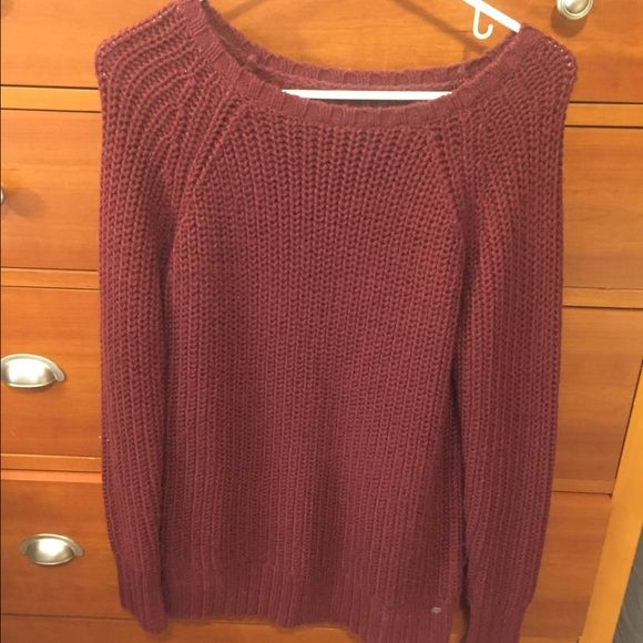 Big chunky maroon sweater chunky maroon sweater from American ...
