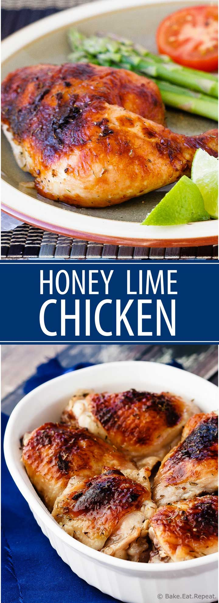 Honey Lime Chicken - Bake.Eat.Repeat. (simple, family friendly recipes)
