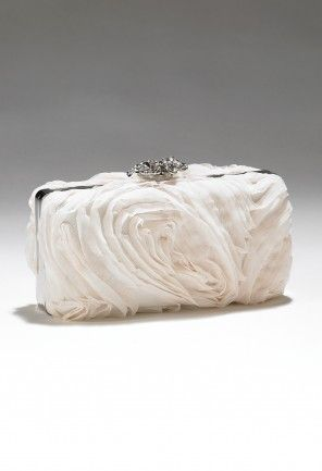 Handbags - Pleated Flower Clutch Handbag from Camille La Vie and Group USA