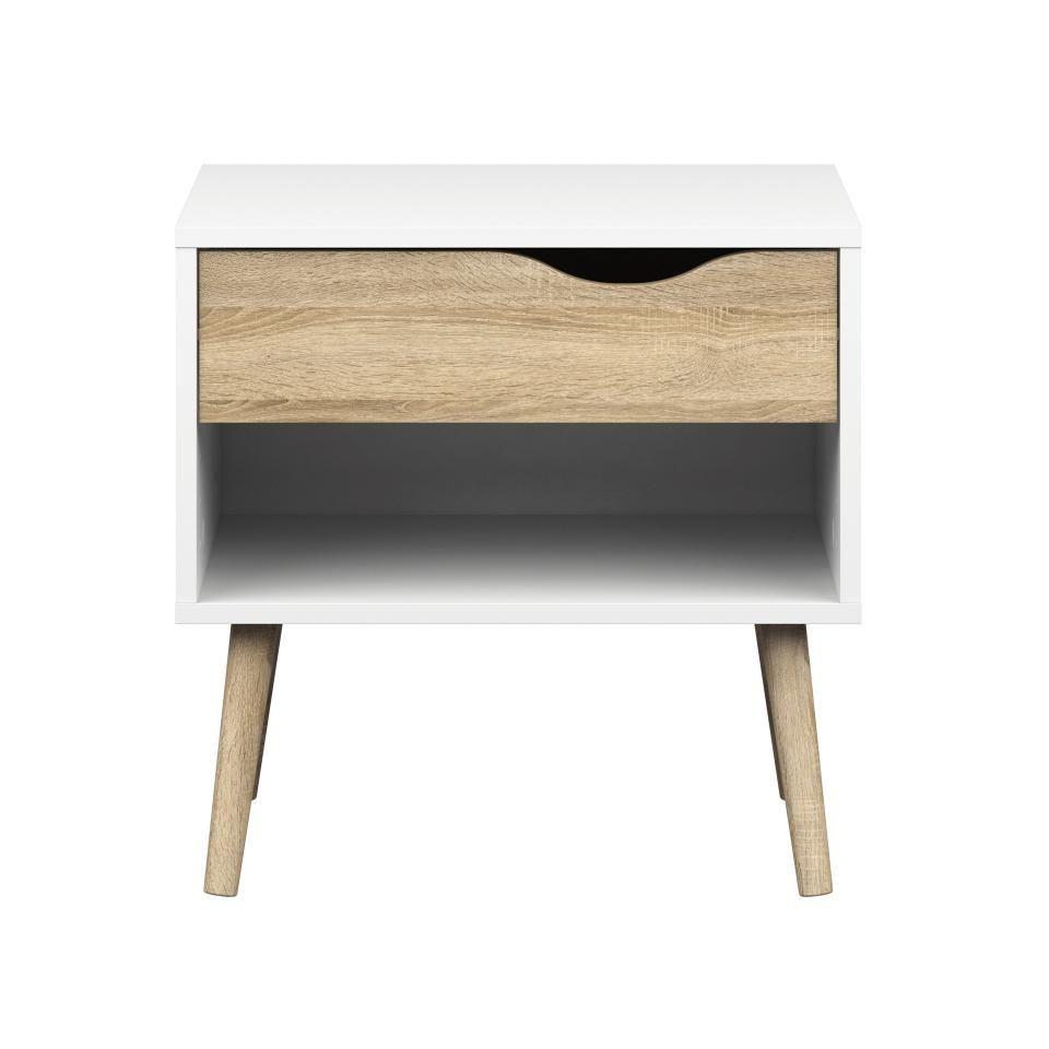 Der Nachttisch Der Serie Oslo Bringt Modernes Skandinavisches Design In Ihr  Schlafzimmer. Der Mix Aus
