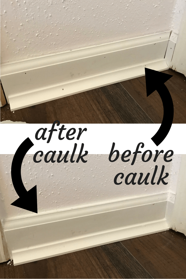 How To Install Baseboards In Your Home And A Look At The - Caulk in a can