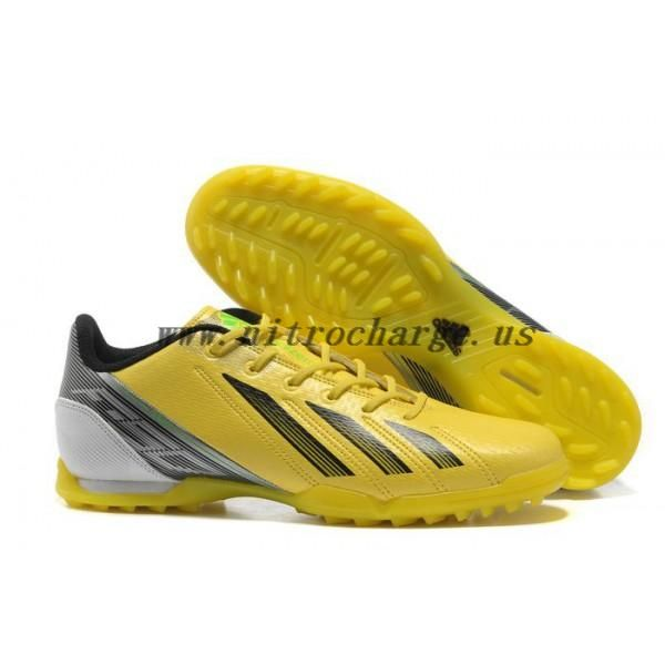 New Messi arrvial adidas F50 Indoor TF Football Shoes in Yellow Black Green  Cleats