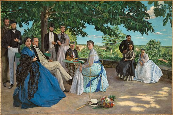 Jean-Frédéric Bazille (French, 1841–1870), Family Reunion , 1867