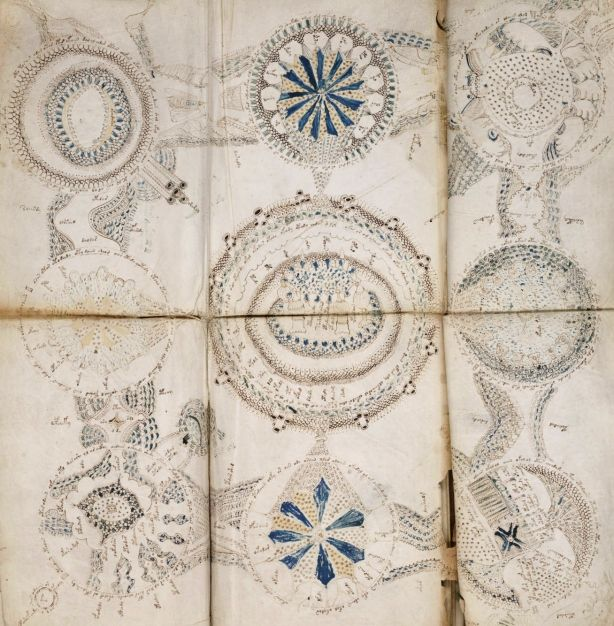 Page from the Voynich manuscript, 15-16th Century - Central Europe