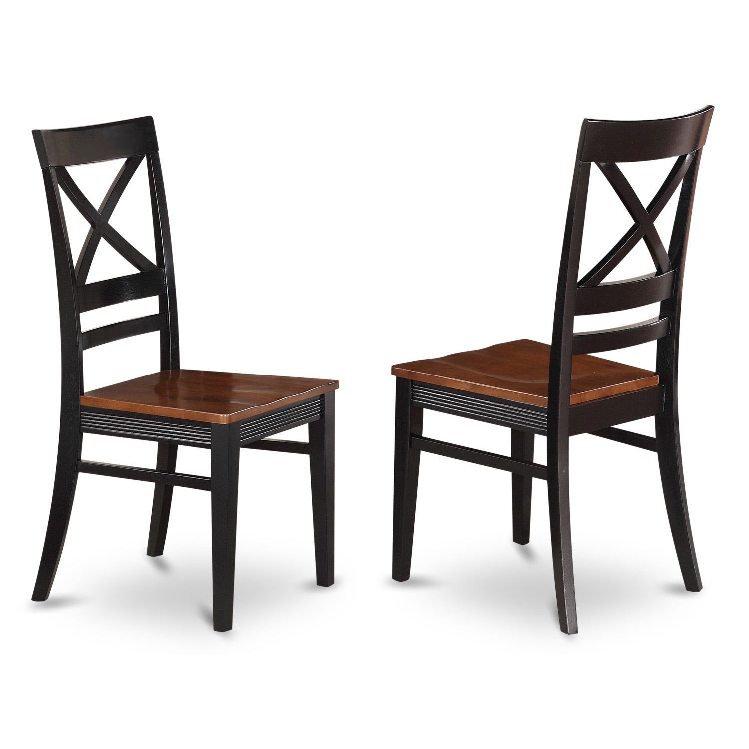 Wonderful Free Shipping · Quincy Wooden Seat X Back Dining Chair ...