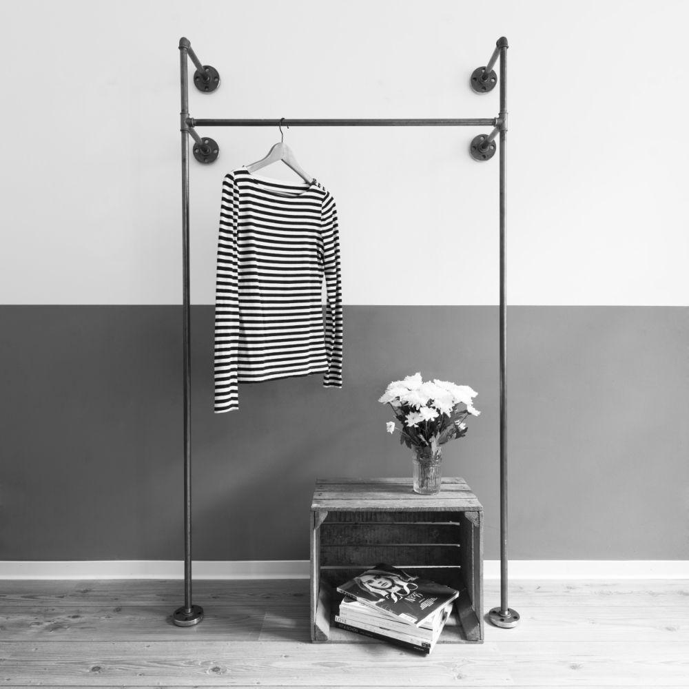 idee stahlrohr wasserrohr kleiderst nder kleiderstange selbst gemacht pinterest. Black Bedroom Furniture Sets. Home Design Ideas