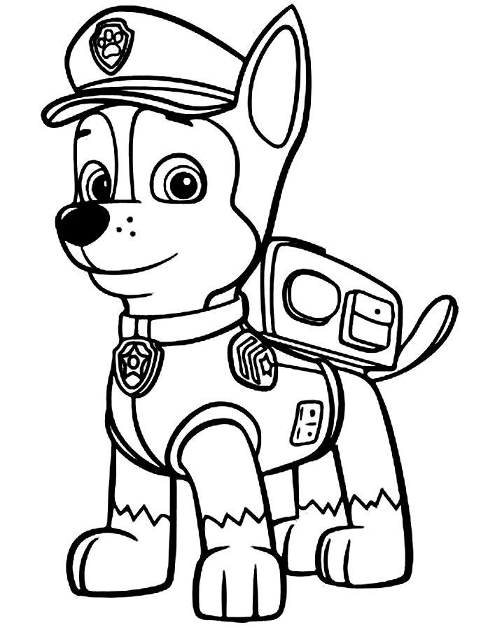 Disegni della Paw Patrol da stampare gratis_Chase