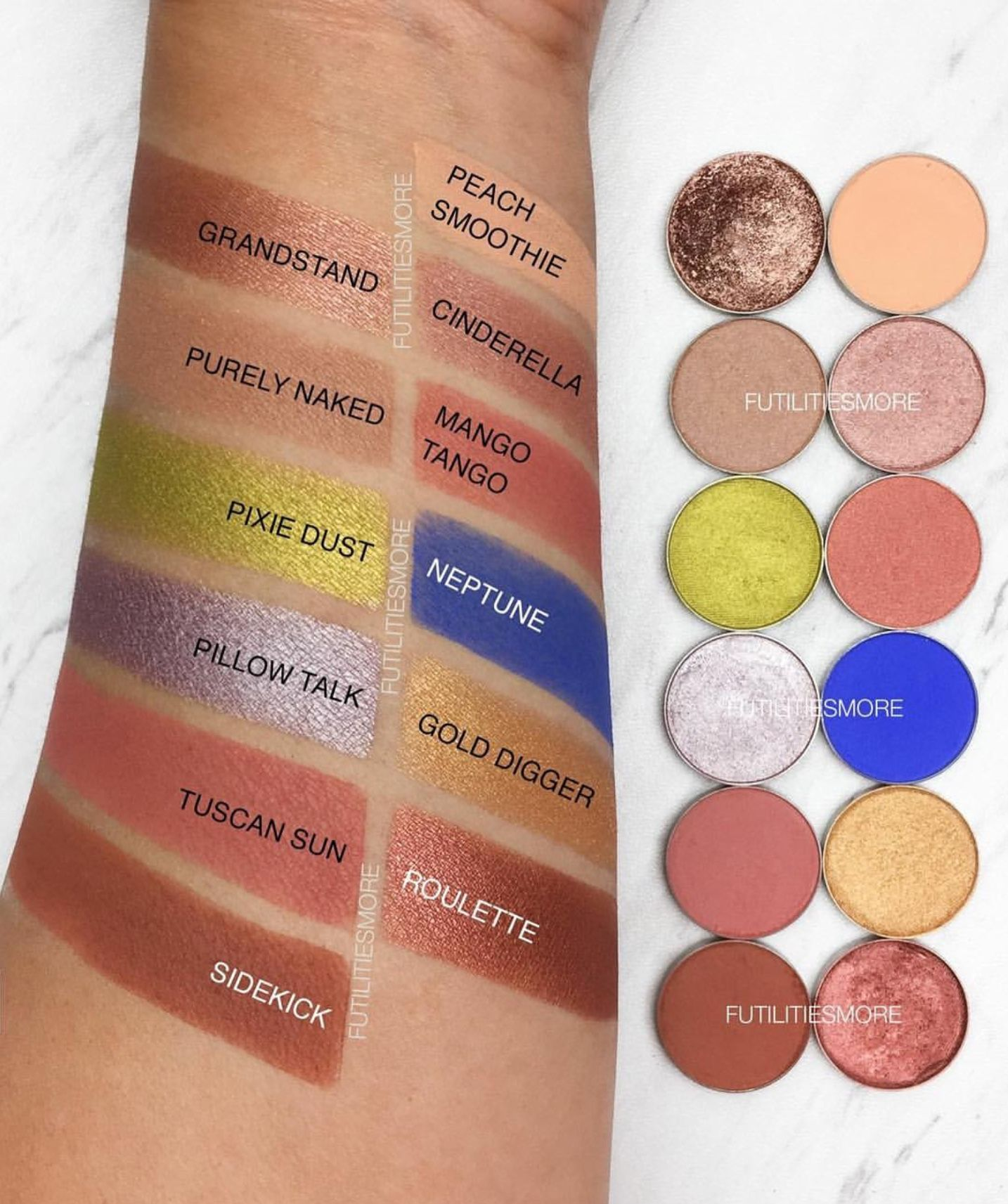 Dupes for kyshadow palette from The Royal Peach using