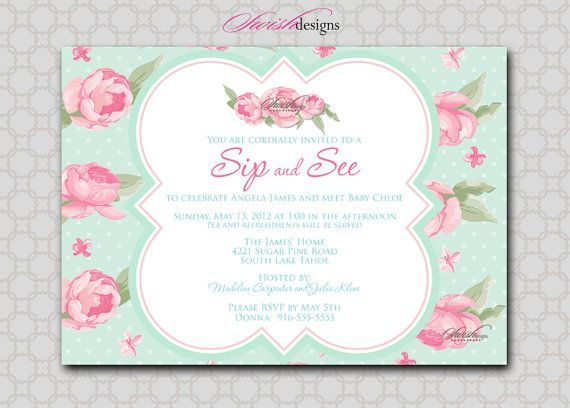 Sip and see shabby chic baby shower invitation rose flower shabby sip and see baby shower invitation rose flower shabby chic by swishdesigns 1500 filmwisefo