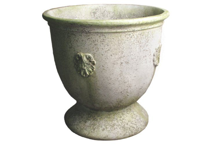 This antiqued French white planter is gorgeous indoors or out!