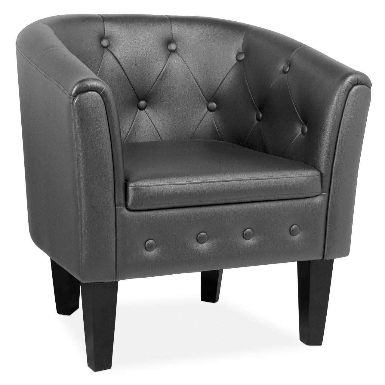 Cocktailsessel Beige Schicker Clubsessel Loungesessel Cocktailsessel In Schwarz