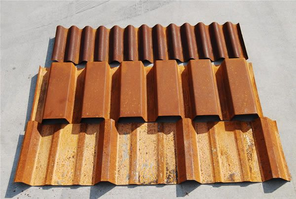 A606 Corrugated Cold Rolled R Panel B Deck Jpg 600 403 Pixels Metal Roof Corrugated Containers Corten