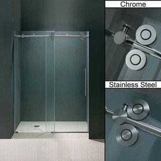 Vigo Elan Clear Adjustable Frameless Sliding Shower Door Shower