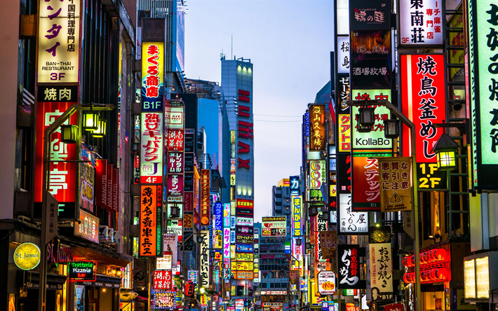 Download Wallpapers Tokyo 4k Shinjuku Street Modern Buildings Japan Asia Citywallpaper Seni