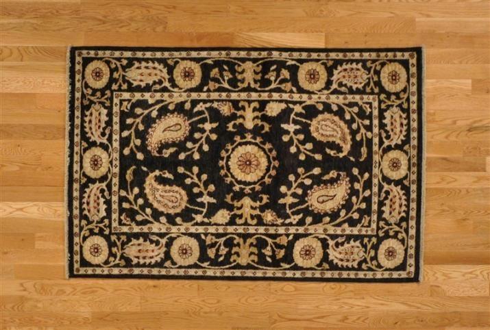Hand Knotted Magnificent Design Ikat Uzbek Oriental Area Rug (4'1'' x 6'2'') via 1800 Get A Rug